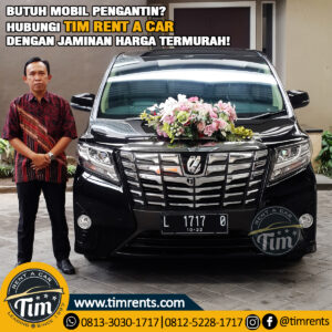 rental wedding car surabaya